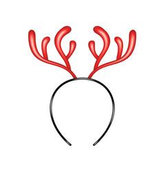 Reindeer caribou in red design headband vector