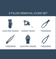 Removal icons vector