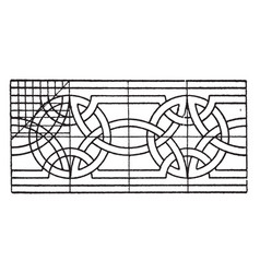 Romanesque interlacement band consists of wavy vector