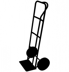 Sack trolley vector