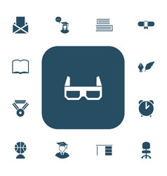 set of 13 editable education icons includes vector image