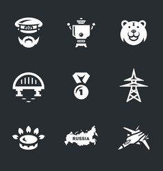 Set of russia icons vector