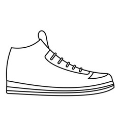 Sneakers icon thin line vector