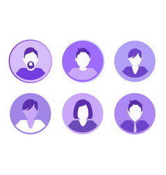 social network people set vector image