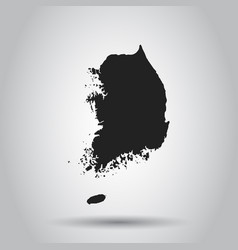 South korea map black icon on white background vector