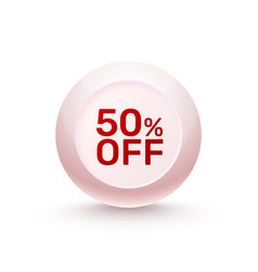 sphere banner promotional offer vector image