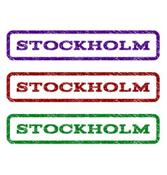 Stockholm watermark stamp vector