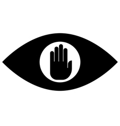 Stop spying icon vector image