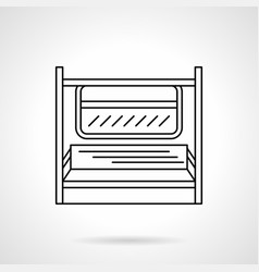 subway seats flat line icon vector image