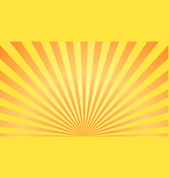 sun rays background orange yellow radiate sun vector image