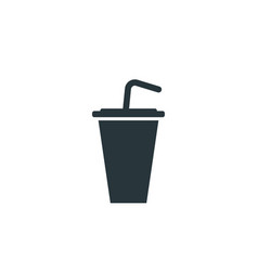 tasty cocktail simple drink black icon on white vector image