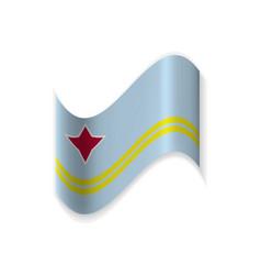 the flag of aruba vector image