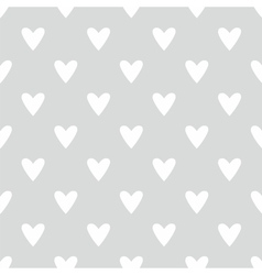 Tile pattern with white hearts on grey background vector