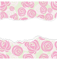 Torn paper rose pattern seamless vector