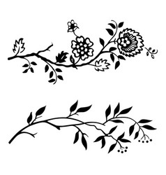 two branches vector image