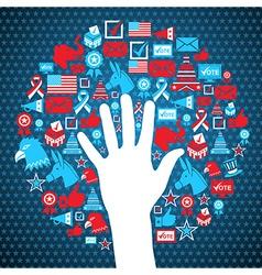 Usa political elections icons vector