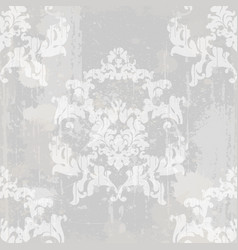 vintage baroque pattern texture ornament vector image