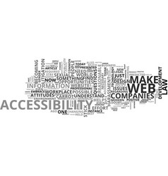 web accessibility the law and the opportunity vector image vector image