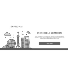 Web Page Chinese City of Incredible Shanghai vector
