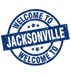 Welcome to jacksonville blue stamp vector