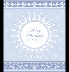 Winter background or snowflakes frame vector image vector image