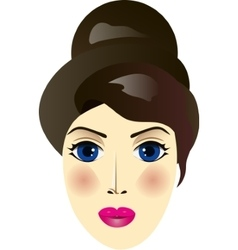 Woman portrait isolated vector