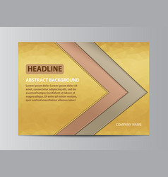 yellow cover design vector image