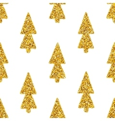 Christmas Tree White Seamless Background vector image vector image