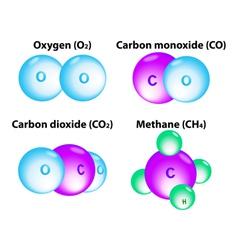 molecule Methane vector image vector image