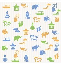 Thai seamless pattern vector image vector image