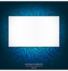 blue delicate luxurious background vector image vector image