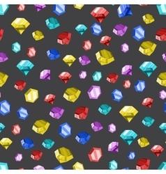 Colored diamonds texture vector image