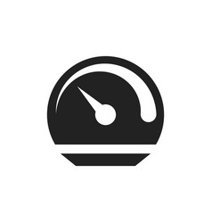 dashboard icon level meter speed vector image