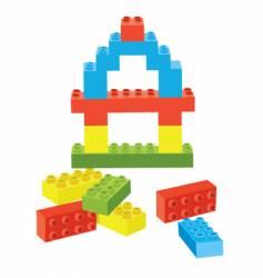 Toy bricks vector
