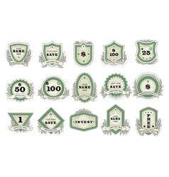 vintage badge retro sticker or premium vector image