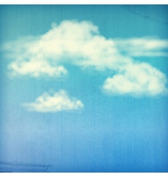 Blue Sky White Clouds Vintage Background vector image