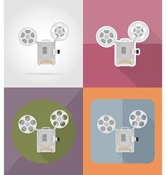 cinema flat icons 12 vector image vector image