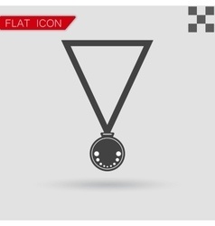 Medal Icon Flat Style with red vector image vector image