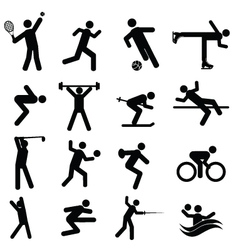 Olympic sport icons vector image vector image