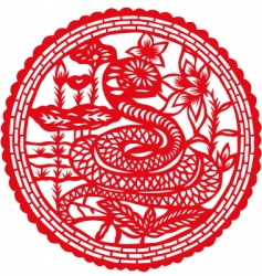 paper cut snake vector image