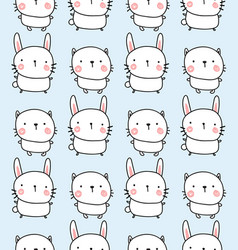 rabbit and bunyn pattern vector image vector image