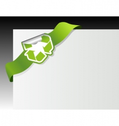 recycle symbol in the corner vector image vector image