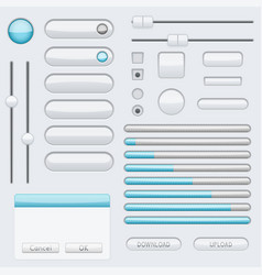 white blank buttons with blue tags web interface vector image vector image