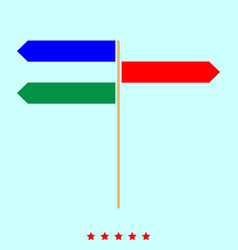direction sign set it is color icon vector image