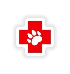 Icon sticker realistic design on paper veterinary vector