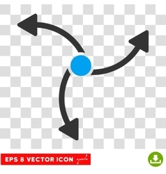 Swirl direction round eps icon vector