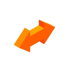 Two way arrow isometric 3d icon vector image