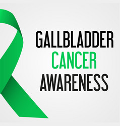 world gallbladder cancer day awareness poster vector image vector image