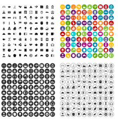 100 tea time food icons set variant vector