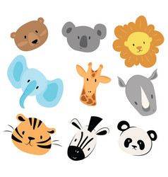 a set cartoon animals for vector image